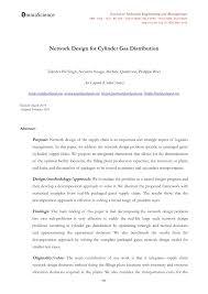 Network Design Paper Pdf Network Design For Cylinder Gas Distribution