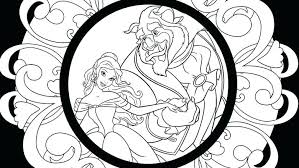 Beauty And The Beast Colouring In Trustbanksurinamecom