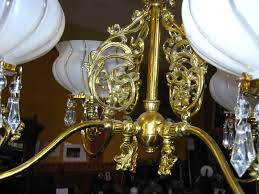 victorian 4 light chandelier from a new orleans estate for