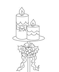 Small Picture Candle Printable Free Coloring Pages For Christmas Christmas