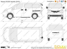 The-Blueprints.com - Vector Drawing - Nissan NV200 Vanette