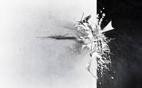 white and black abstract wallpaper