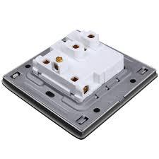 Light Switch Wall Mount Ac 110 250v Led Light Control Wall Mount Light Switch With Two Three Pole Socket