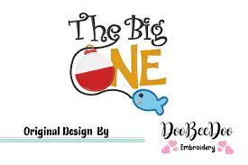 Safari Mickey Applique Design The Big One Birthday Fish Fill Stitch Machine Embroidery Design