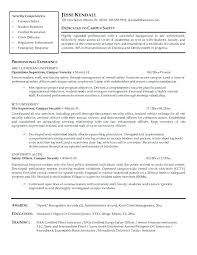 Summit Security Officer Sample Resume