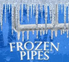 Image result for pictures of icicles and cold pipes