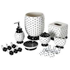 black and white bath accessories Google Search basement bathroom