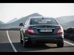 2012 Mercedes-Benz C-Class Coupe - C 250 CDI Rear Angle Speed ...