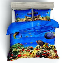 colorful deep ocean fish print duvet cover set clown bedding sets gift for kids full wamsuttar