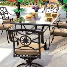 round patio table set cover patio table and chair sets darlee ten star 6 person patio dining set antique bronze patio table 4 chairs umbrella
