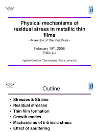 Thin Film Literature Review