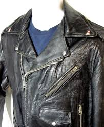 vintage leather motorcycle rider s jacket w