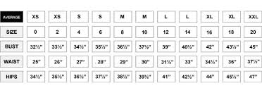 Sport Coat Sizing Chart Forever 21 Pant Size Conversion