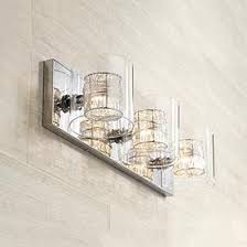 Contemporary vanity lighting Led Possini Euro Wrapped Wire 22 Lamps Plus Contemporary Bathroom Lighting Lamps Plus