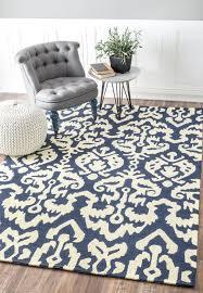 sundeck bi24 tribal indoor outdoor ikat navy blue rug southwestern rugs