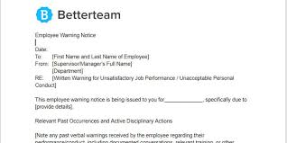 How To Write A Warning Letter To An Employee Employee Warning Notice Word Pdf