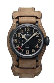 baselworld 2014 tough new watches for men the jewellery editor zenith s pilot gmt 1903 features a 48mm case ultra light black dlc coated
