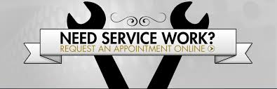 need service work here to request an appointment
