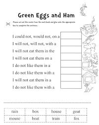 Dr Seuss Printable Worksheets For Kindergarten Dr Seuss Activity ...
