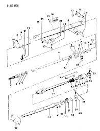 1984 jeep grand wagoneer housing steering column lower thumbnail 4