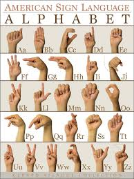 Sign Language Chart American Sign Language Asl Alphabet Abc Sticker Adhesive Poster 18x24