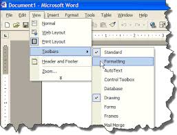 microsoft word menus microsoft word toolbars screentips and toolbar buttons