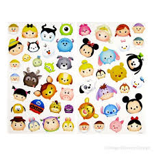 Tsum Tsum Color Chart Disney Tsum Tsum Stickers Invitation Decoration Planner Stickers New Diy Kids Cards Tween Girl Label Teen Party Favors Gift Tag Decor