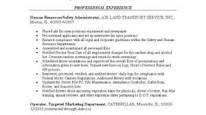 Resume Human Resources Manager Emphasis Hr Sample For Years