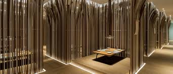 Fast Food Restaurant Interior Design Ideas Golucci International Design Have Recently Completed Sipu Nabe Contemporist The Tables In This Restaurant Are Surrounded By Forest Of Curved