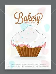 Stylish Menu Card Design For Sweet Shop Or Bakery Decorated With