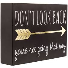 don t look back wood wall decor hobby