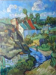 vincent saatchi art artist artan kola painting houses at auvers rework vincent
