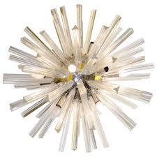 midcentury modern large glass rod sputnik chandelier