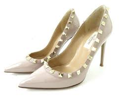 with 34 patent leather pointed toe pumps pink beige with valentino garavani pw2s0057 lock studs made