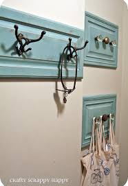 Old Door Knob Coat Rack Check out this coat hanger I made out of old cabinet doors Hometalk 40