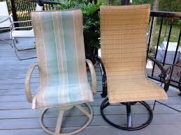 replacement slings amazing patio furniture sling back chairs making and installing new slings for homecrest style patio chairs