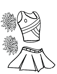 Cheerleading Coloring Pages Coloring Pages To Print Free Cheerleader