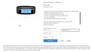 Microsoft Band 2 Size Chart Microsoft Band 2 75 Discount Stretched Until The End Of
