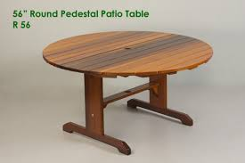 56 round pedestal patio table