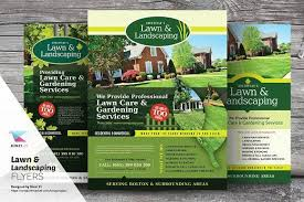 lawn care advertising templates lawn landscaping flyer templates flyer template template and