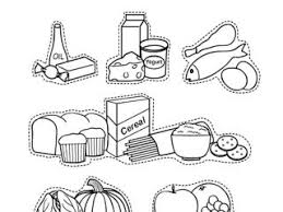 Small Picture Coloring For Kids Food Pyramid Coloring Page In Set Tablet