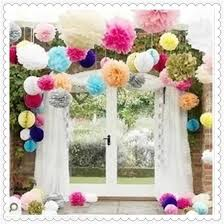 Pink Paper Flower Decorations Tissue Paper Flowers Fashion Wedding Waterproof And Environment Protection Decorations Hot Party Beautiful And More Color Paper Flower Ball Wedding