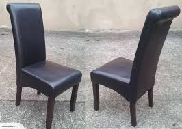 8 x montana dining chairs in pu leather black colo