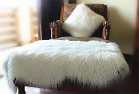 details about sheepskin long hair gy wool cushion soft fur rug sofa faux lambs wool