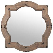 wood wall mirrors. Weston Natural Wood Wall Mirror (\u20ac60) ❤ Liked On Polyvore Featuring Home, Home Decor, Mirrors, Wooden Accessories, Mirror, Mirrors
