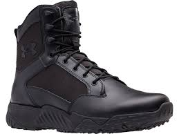 under armour ua stellar 8 tactical boots leather and nylon black men s