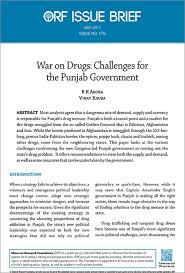 war on drugs challenges for the punjab government orf