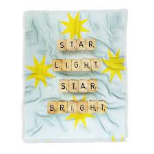 Star Light Star Bright Throw Blanket Happee Monkee Girls