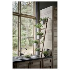 Wall Planters Ikea Satsumas Plant Stand With 5 Plant Pots Bamboo White 125 Cm Ikea