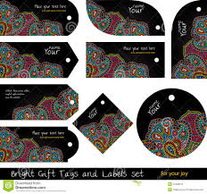 Tags For Gifts Templates Floral Set Of Tags For Gifts And Goods Stock Vector Illustration
